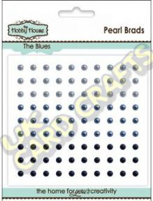 3mm The Blues Self Adhesive Pearls x 90
